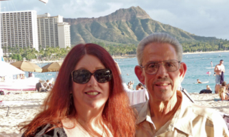 Marguerite and David Kaye on a recent vacation.