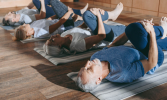 Flexibility exercises, like yoga, can help maintain mobility as you age.