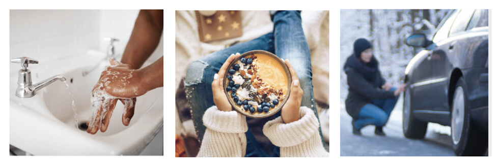 Reducing the spread of viruses, eating right, and being active can keep you healthy during the winter months.