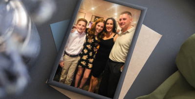 Judy Congdon, second to right, with her children and husband.